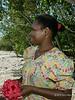 Woman with hibiscus, Pentecost Island, Vanuatu