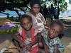 Mother and two children, Pentecost Island, Vanuatu