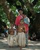 Woman and her children, Pentecost Island, Vanuatu