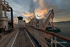 View from the upper deck of the Clipper Odyssey, Port Morseby, Papua New Guinea