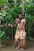 Warrior with double boar's tusk necklace, Ekasup Village, Port Vila, Vanuatu