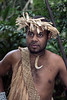 Warrior with single boar's tusk necklace, Ekasup Village, Port Vila, Vanuatu