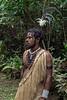 Warrior with feathered headdress, Ekasup Village, Port Vila, Vanuatu