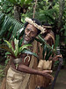 Warrior with leafy armband, Ekasup Village, Port Vila, Vanuatu