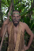 Warrior with goatee, Ekasup Village, Port Vila, Vanuatu