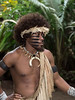 Warrior with black face stripes, Ekasup Village, Port Vila, Vanuatu