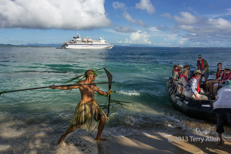Zodiac under 'attack', Santa Ana Is, Solomon Islands