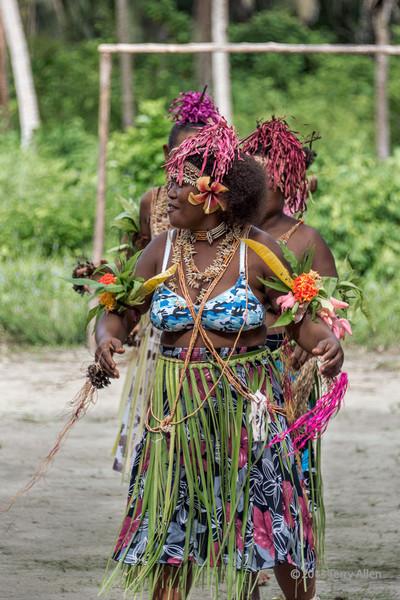 Woman dancer-3, Santa Ana Island, Solomon Islands