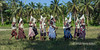 Woman's dance with white hoods, Santa Ana Island, Solomon Islands<br /> <br /> Not the Klu Klux Clan