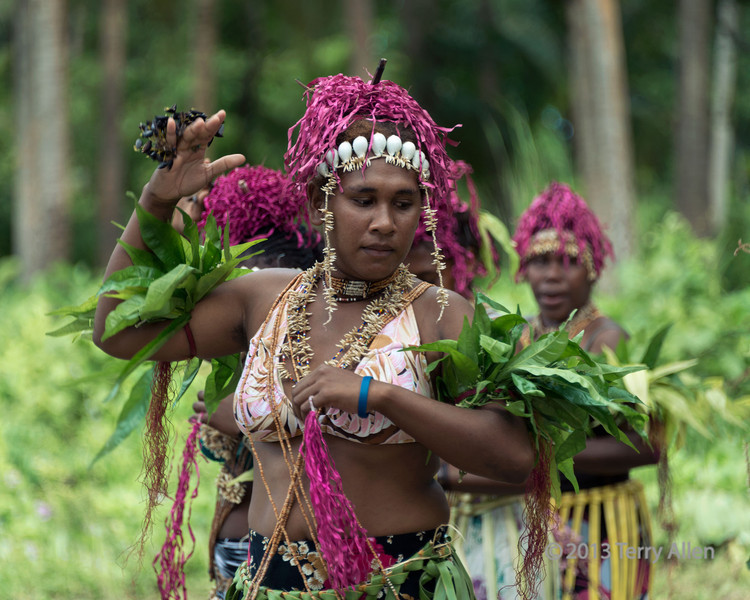 Woman dancer-2, Santa Ana Island, Solomon Islands