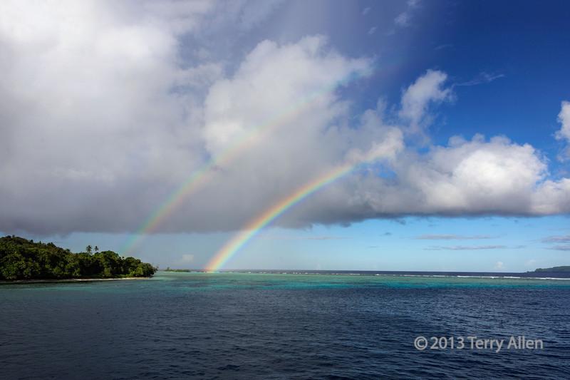 Double rainbow, Santa Ana Is, Solomon Islands