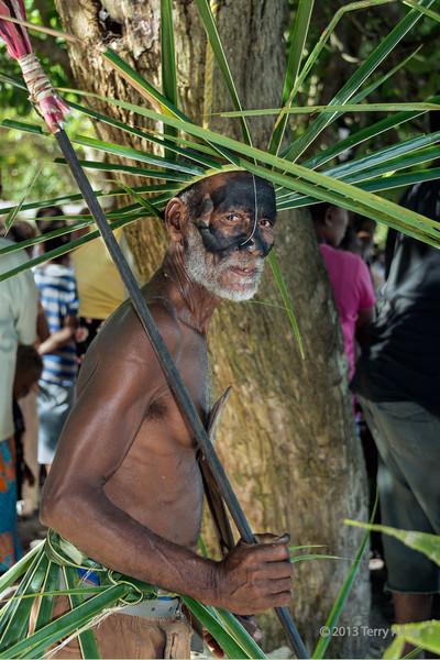 Portrait of a warrior with spear #2, Santa Ana Island, Solomon Islands