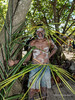 Portrait of a warrior with spear #1, Santa Ana Island, Solomon Islands