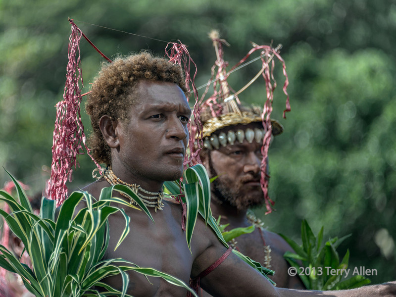 Bamboo music musician, Santa Ana Island, Solomon Islands