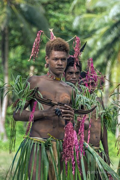 Pan pipe player-2, Santa Ana Island, Solomon Islands