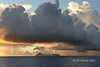 Sunrise with rainstorm over Tikopia Island, Solomon Islands