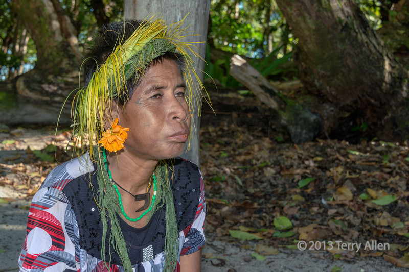 Woman chewing betel nut, Tikopia Island, Solomon Islands
