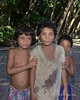 Three children, Tikopia Island, Solomon Islands