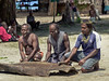 Three drummers, Utupua Is, Solomon Islands