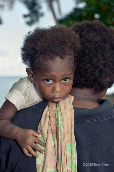Baby with big eyes, Utupua Is, Solomon Islands
