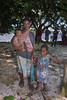 Woman and her children, Utupua Is, Solomon Islands