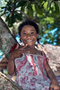 Portrait of a smiling young girl, Utupua Island, Solomon Islands
