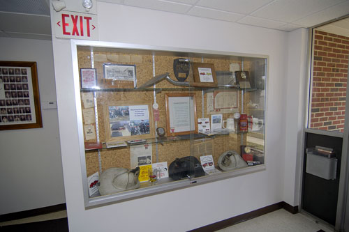Lobby display case at main station 291.