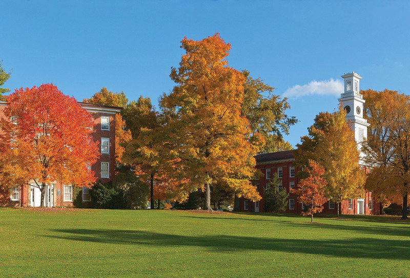 North Hall and the Chapel in autumn