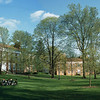 Class held on WRA's lawn in springtime