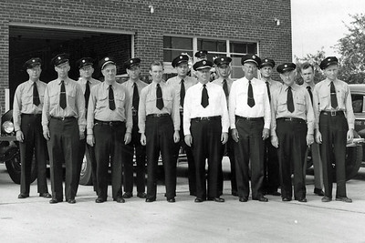 Station 6 in 1950, with Fire Chief and Assistant Fire Chief.