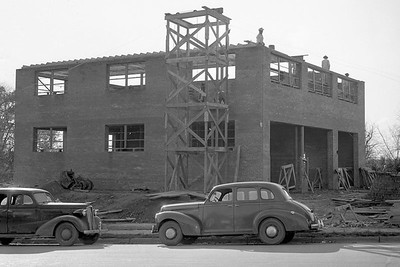 Station 6 under construction, 194. Courtesy of Raleigh News & Observer.