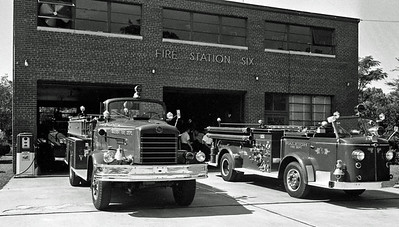 Station 6 with Engine 4 and Engine 5 in 1961. Courtesy of Raleigh News & Observer.