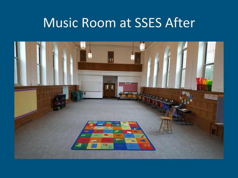 Music Room at South Street Elementary School, after summer construction. Courtesy Photo