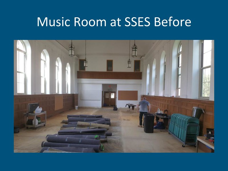 Music Room at South Street Elementary School, before summer construction. Courtesy Photo