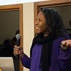 Aisha Morris, Director of RESESS at UNAVCO, presents during 2018 AGU@UNAVCO. January 16, 2018. Boulder, Colorado. (Photo/Daniel Zietlow, UNAVCO)
