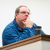 Dave Phillips listens to presentations being given at during the 2018 AGU@UNAVCO. January 16, 2018. Boulder, Colorado. (Photo/Daniel Zietlow, UNAVCO)