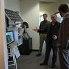 Brandon Rattiner, Denver Metro Area Regional Director for Senator Mark Udall visits UNAVCO. 26 April 2013.<br /> Pictured: Joe Pettit, Dave Mencin, Brandon Rattiner