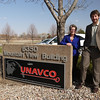 Brandon Rattiner, Denver Metro Area Regional Director for Senator Mark Udall visits UNAVCO. 26 April 2013.<br /> Pictured: Meghan Miller, Brandon Rattiner