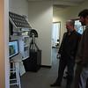 Brandon Rattiner, Denver Metro Area Regional Director for Senator Mark Udall visits UNAVCO. 26 April 2013.<br /> Pictured: Dave Mencin, Brandon Rattiner.