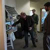 Brandon Rattiner, Denver Metro Area Regional Director for Senator Mark Udall visits UNAVCO. 26 April 2013.<br /> Pictured: Dave Mencin, Joe Pettit, Brandon Rattiner