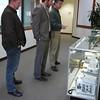 Brandon Rattiner, Denver Metro Area Regional Director for Senator Mark Udall visits UNAVCO. 26 April 2013.<br /> Pictured: Dave Mencin, Brandon Rattiner, Joe Pettit