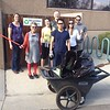 UNAVCO staff clean up the Twin Lakes trail near the UNAVCO facility in Boulder, Colorado, on Earth Day 2016. UNAVCO adopted the trail as part of our stewardship to the community and the environment. April 22, 2016. (Photo/David Phillips, UNAVCO)