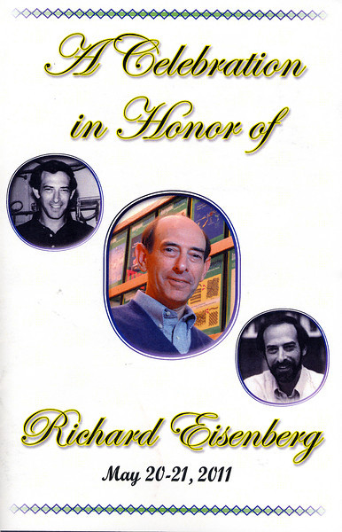 A celebration in honor of Richard Eisenberg to recognize his many accomplishments in research, teaching, and mentoring of his colleagues and friends in the Rochester community. The symposium was held in Goergen Hall's Sloan Auditorium on the University of Rochester's River Campus.