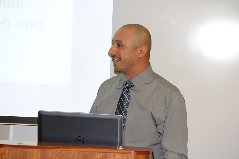 Ramon Puga speaks at the Sustainability conference.