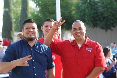Pedro Ramirez (Educational Advisor -- Outreach) and Manuel Rosas (Counselor -- EOPS) pose for the camera.