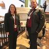 BC Faculty Mindy Wilmot and BCSGA Senator James Tompkins