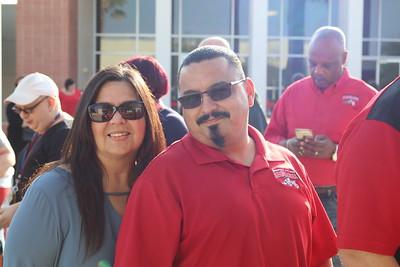 Jo Ann Acosta (Educational Advisor -- Outreach) and Victor Croswaithe (Tech II -- A&R) share their smiles for the camera.