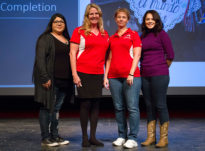 left to right: BC student Grace Torres, Kimberly Bligh, Billie Jo Rice, and Isabel Castaneda.