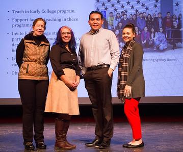 left to right: Sarah Baron, Christine Cruz-Boone, Abel Guzman, and Lesley Bonds.