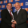 Today, we honor with the Dolphin Award for Outstanding Service and Contribution to the College by a Member of the Non-Instructional Staff in Maintenance, Operations, and Security:<br /> Vincent Bono, Administrative Assistant, Office of Buildings and Grounds.<br /> <br /> You have been a full-time employee of the College for 14 years. In your current capacity you are responsible for every physical aspect of our 204-acre campus, the largest in New York City. Not only do you oversee the daily maintenance of the campus and construction projects, large and small, you also have to respond to the many emergency situations that crop up on a campus of this size, at all times of the day and night. Your friendly demeanor and willingness to roll up your sleeves and pitch in with your fellow staffers has also earned you their trust and respect.<br /> <br /> Today, we salute your determined commitment to keeping our campus running smoothly and efficiently, and making it a beautiful place to learn and work.